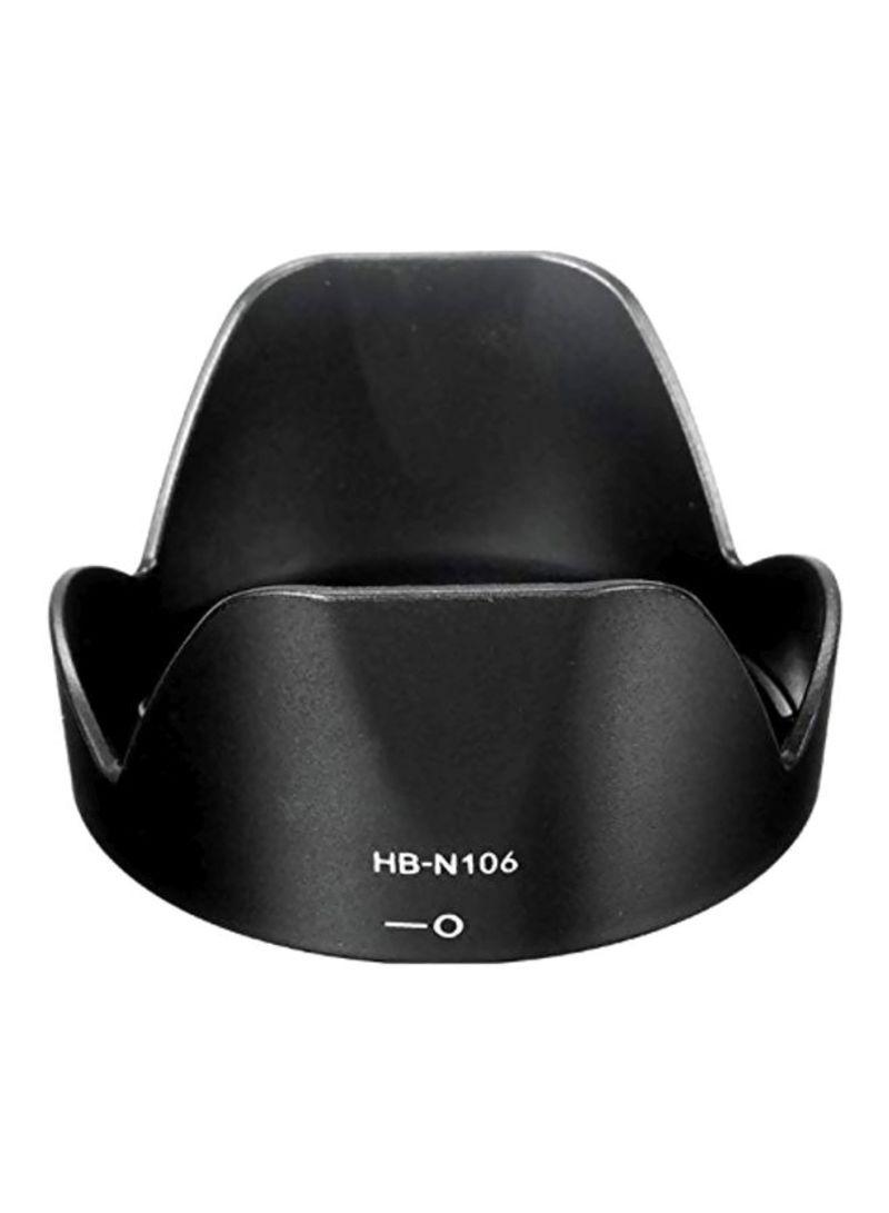 Replacement Camera Lens Hood For Nikon Black