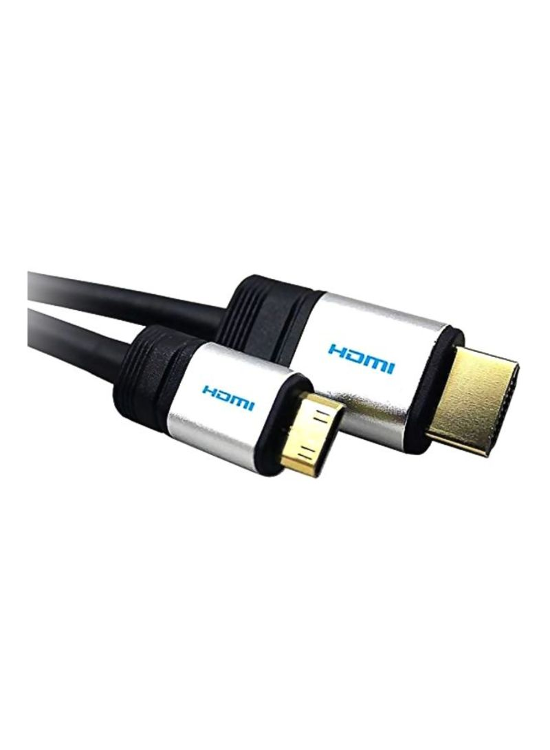 HDMI HDTV Cable For Nikon Coolpix P100 Camera Black/White 1.5 meter