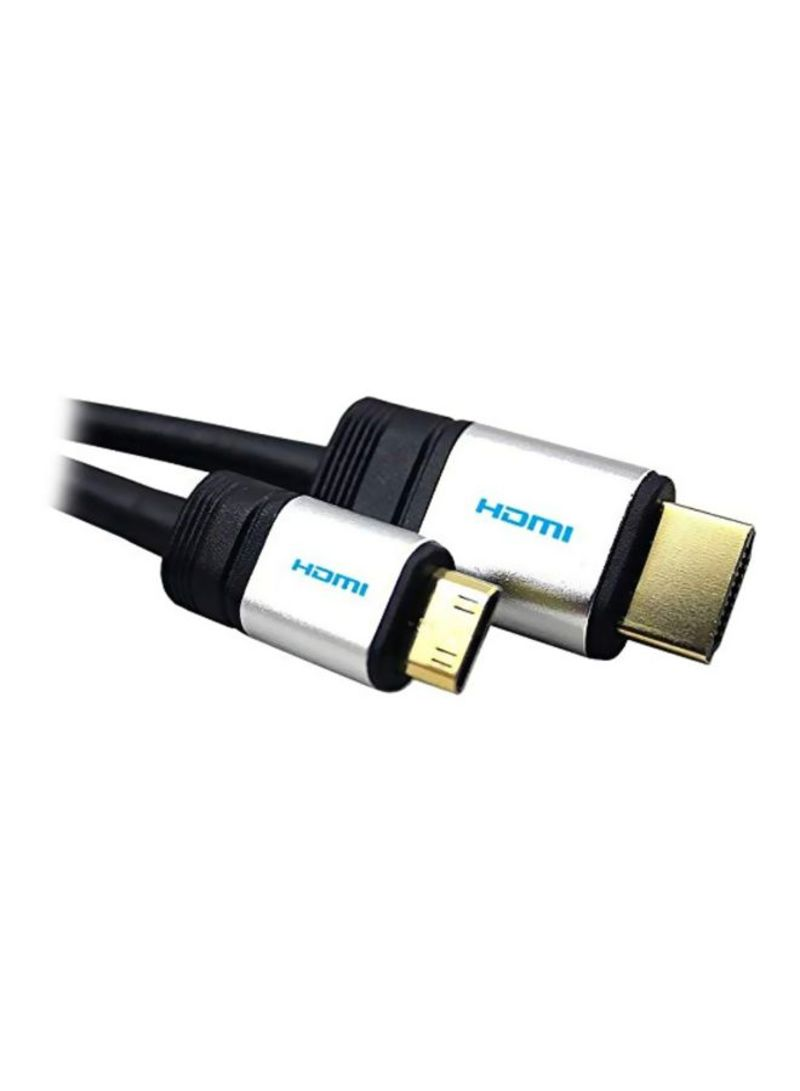 HDMI HDTV Cable For Canon IXUS 210 HS Camera Black/White 1.5 meter