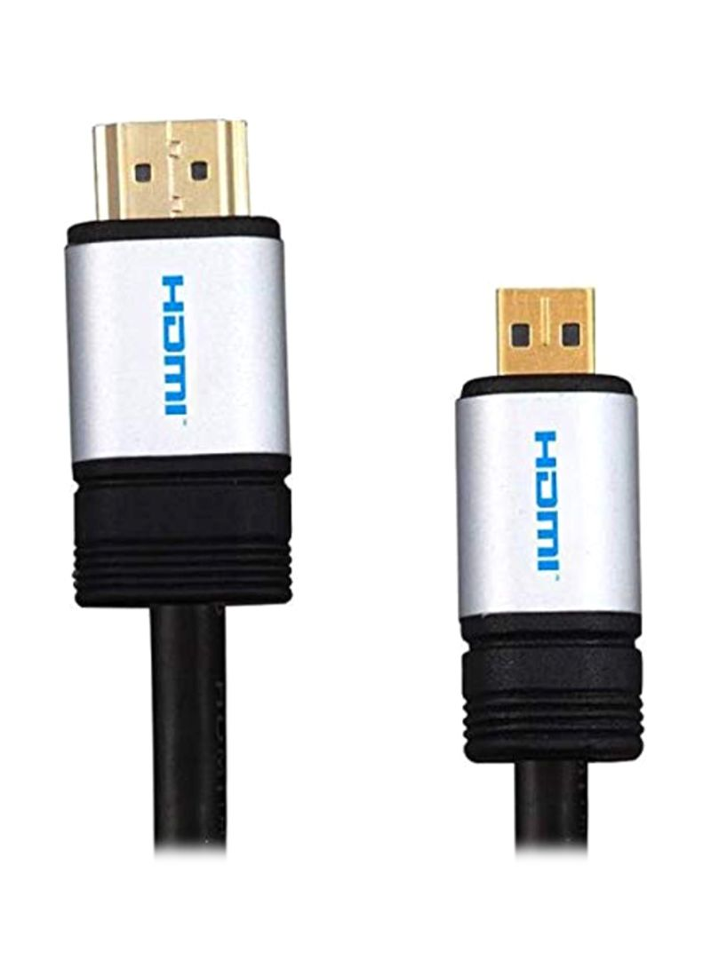 HDMI Cable For Sony Cyber-Shot DSC-HX90V Black 1.5 meter