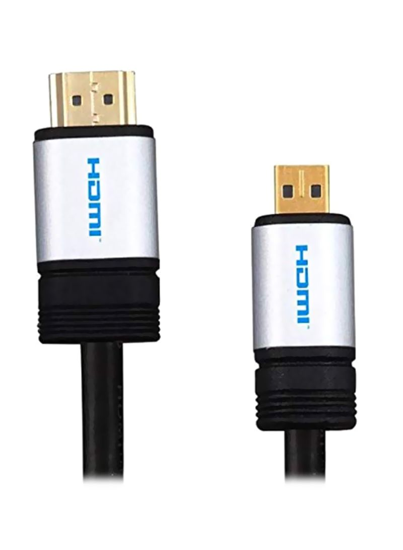 HDMI Cable For Canon PowerShoot Elph IXUS Black 1.5 meter