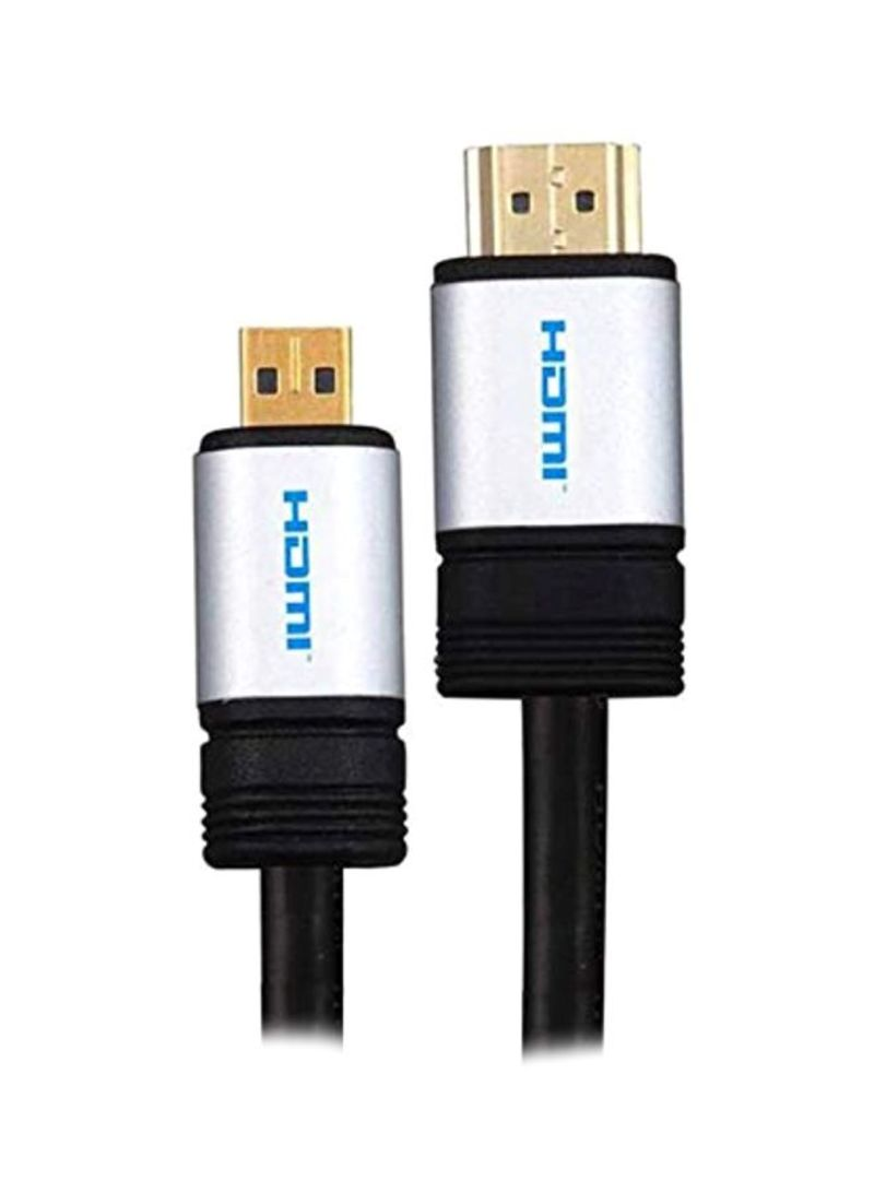 HD HDMI HDTV Camera Cable For Sony Alpha A5100/A6000/A6300/A6500 Black/Silver 1.5 meter