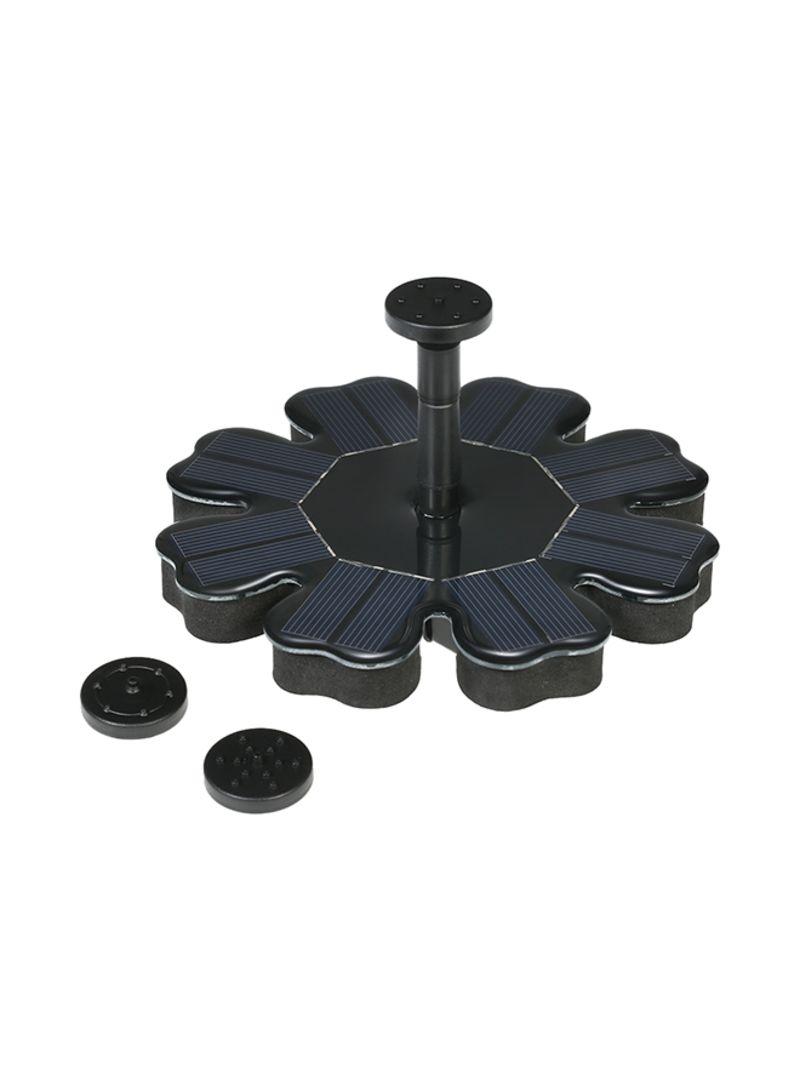 8V 1.6W Solar Panel Water Floating Fountain Brushless Water Pump Kit Black