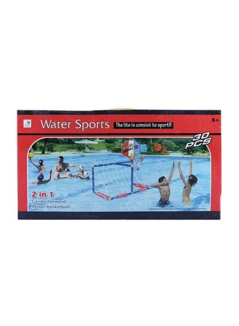 Water Polo And Water Basketball Floating Goal Post With 2 Balls And Pump 700 g