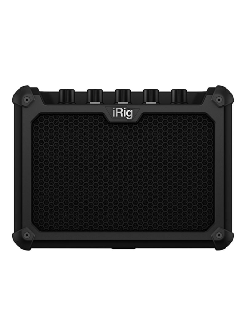 iRig Micro Amp - 15W battery-powered guitar amplifier with iOS/USB interface IP-IRIG-MICROAMP-IN Black
