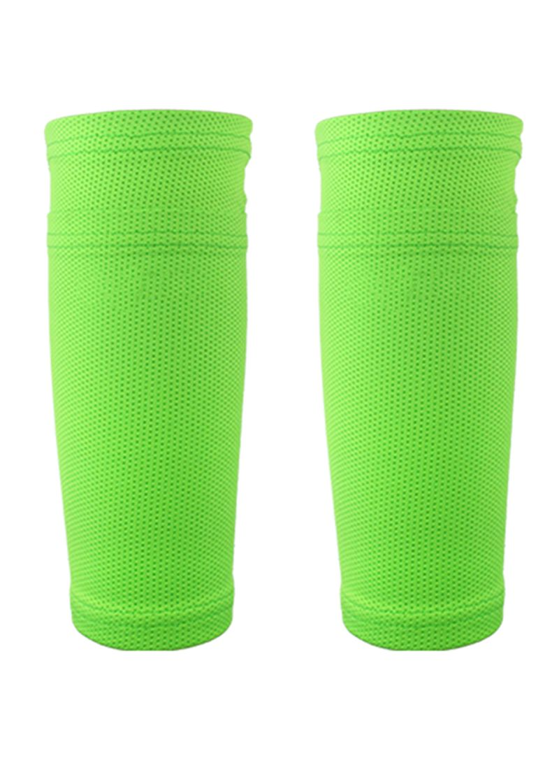 2-Piece Soccer Calf Socks Breathable Football Protective Sleeves With Pocket