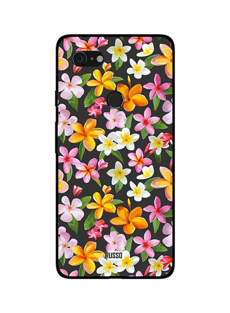 Protective Case Cover For Google Pixel 3 Printed Flowers Art