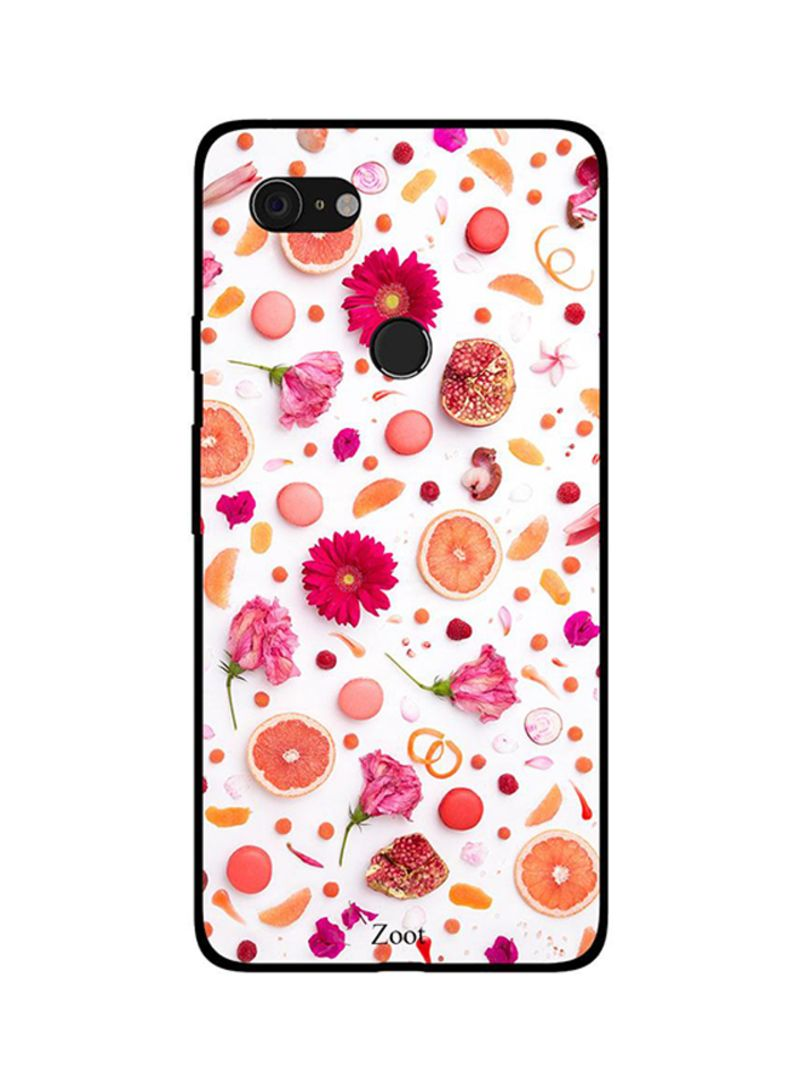 Protective Case Cover For Google Pixel 3XL Flowers Fruits