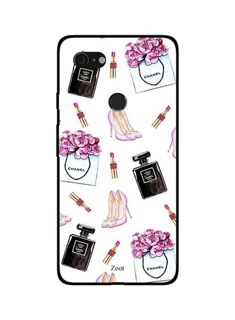 Protective Case Cover For Google Pixel 3XL Cologne Lipstick Sandals