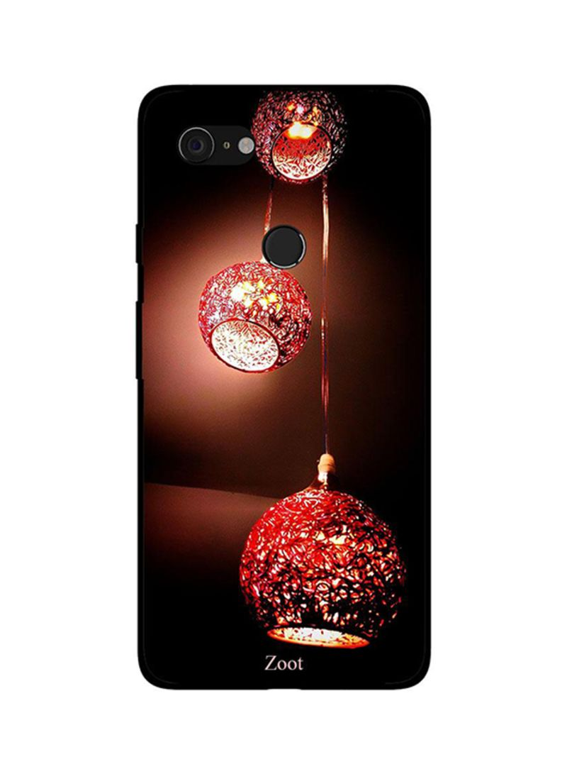 Protective Case Cover For Google Pixel 3XL Red Hanging Lamps