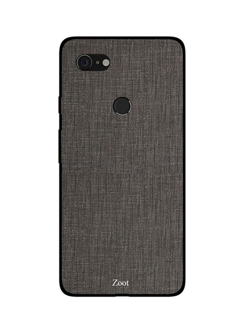 Protective Case Cover For Google Pixel 3XL Dark Grey Jeans Pattern
