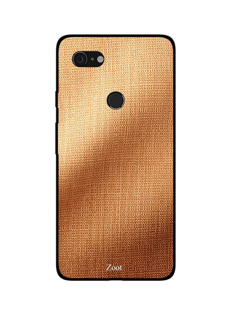 Protective Case Cover For Google Pixel 3XL Golden Brown Jeans Pattern