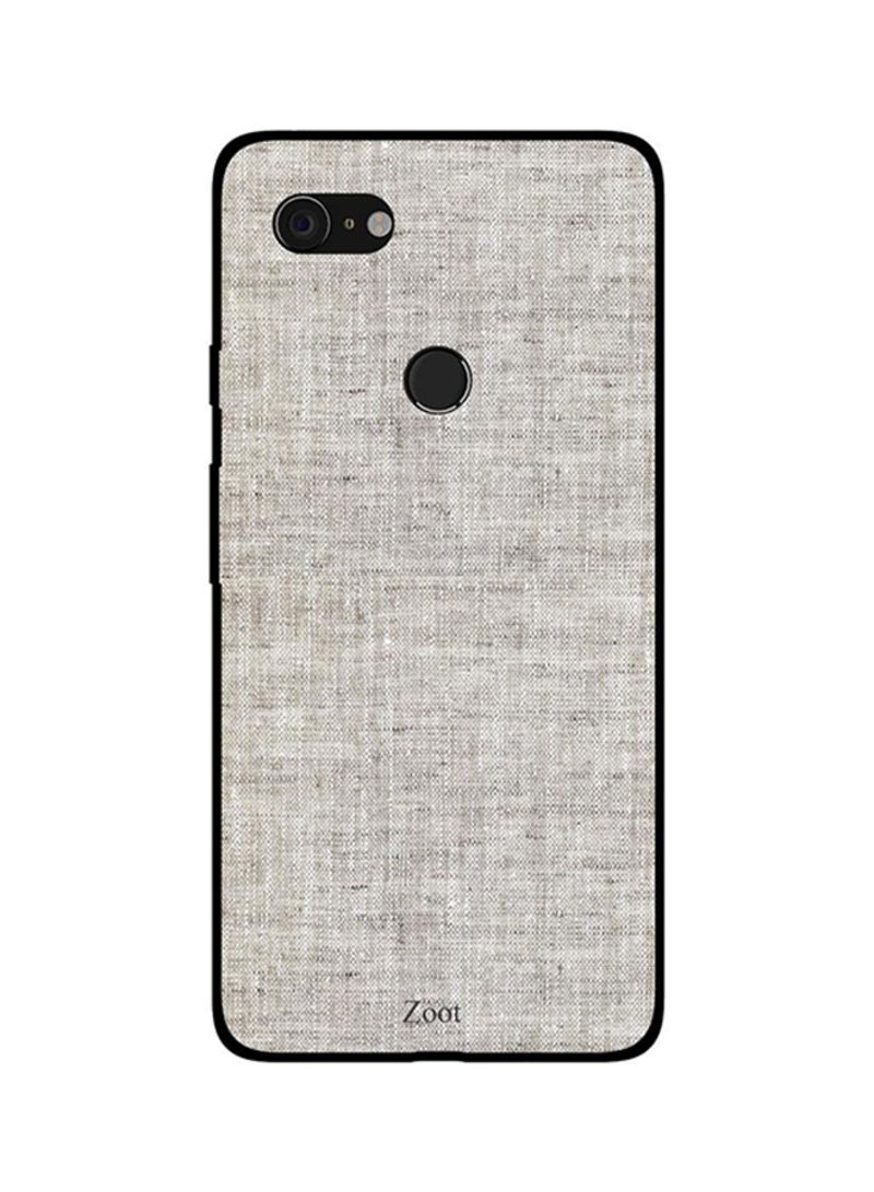 Protective Case Cover For Google Pixel 3XL Grey Jeans Pattern
