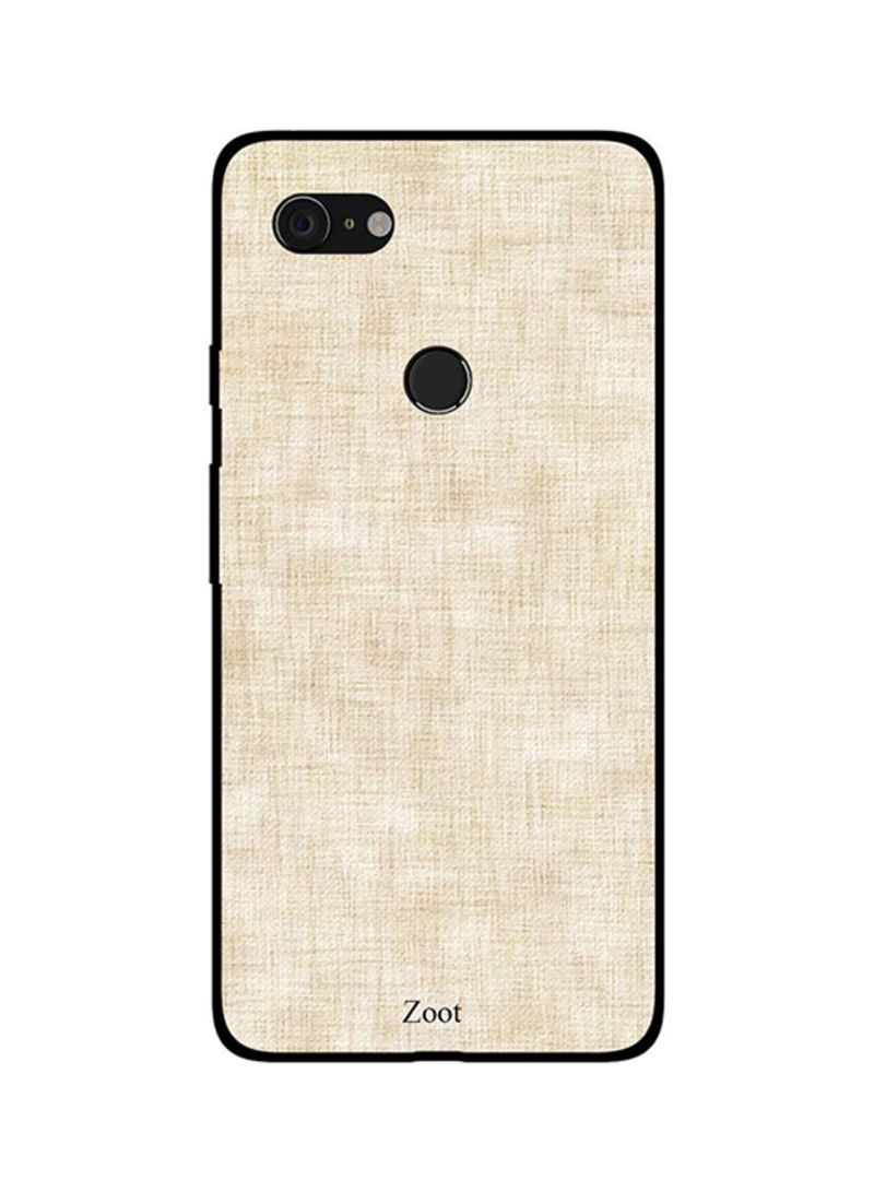 Protective Case Cover For Google Pixel 3XL Off White Jeans Pattern