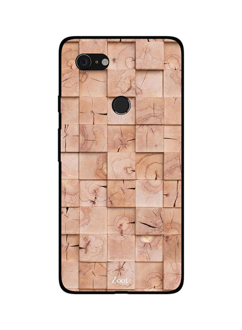 Protective Case Cover For Google Pixel 3XL Wooden Cream Boxes