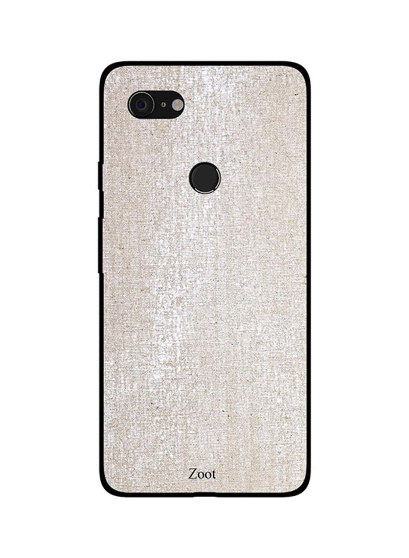 Protective Case Cover For Google Pixel 3XL Cream White Cloth Pattern