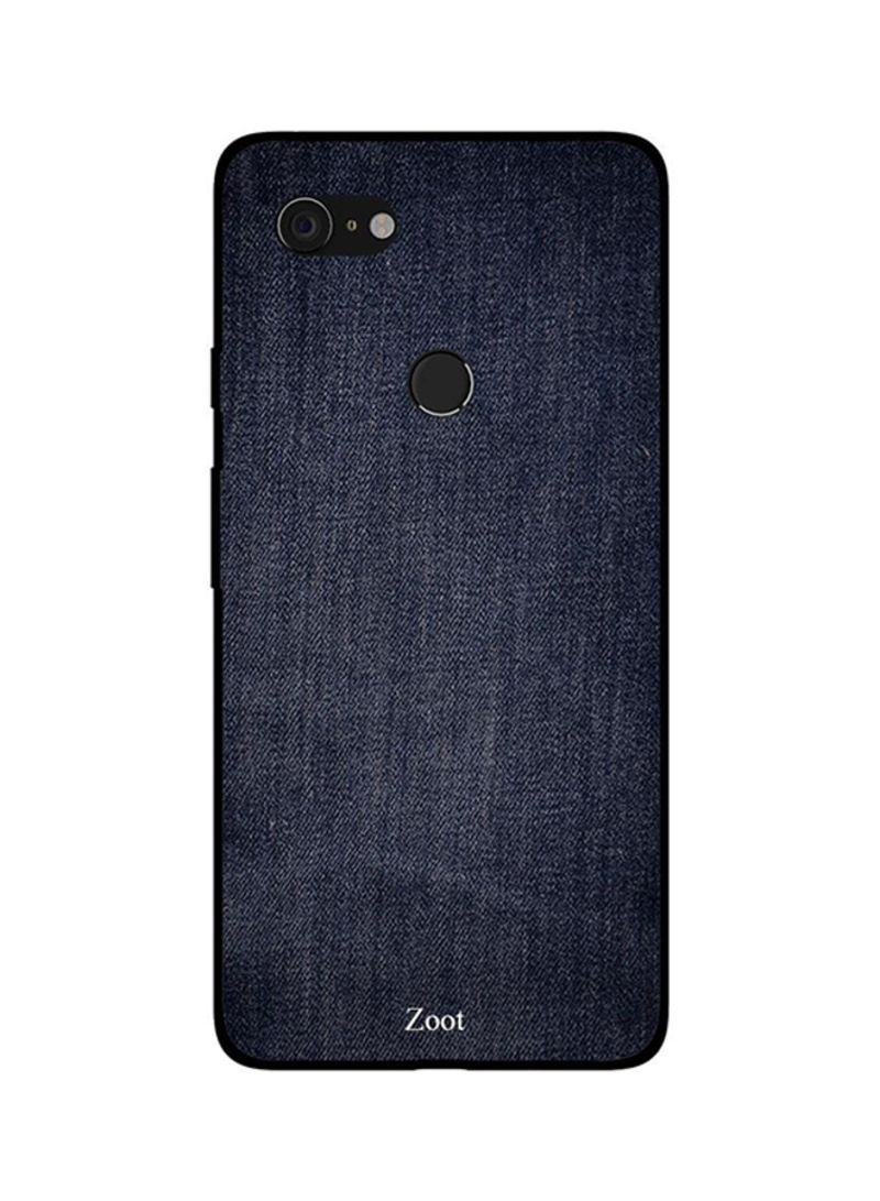 Protective Case Cover For Google Pixel 3XL Dark Blue Jeans Pattern