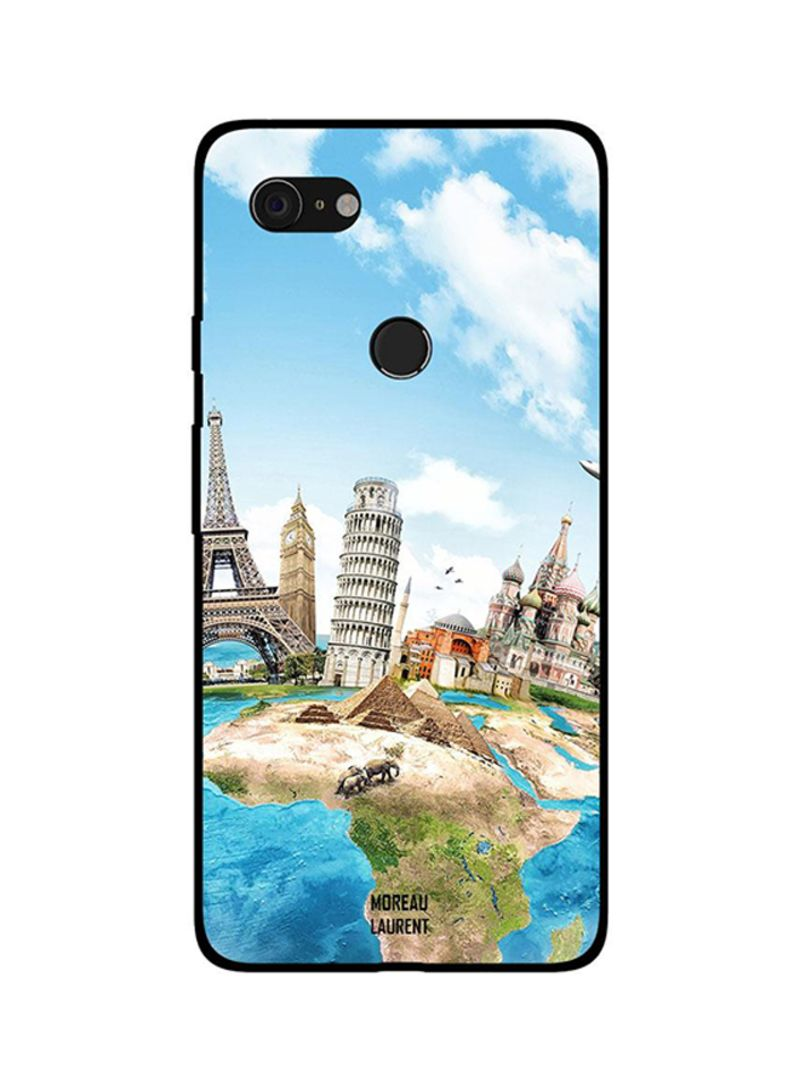 Protective Case Cover For Google Pixel 3XL Travel Dream Destinations