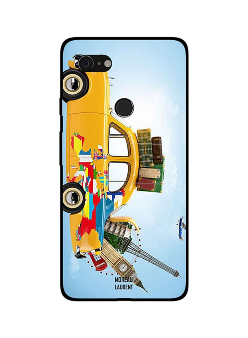 Protective Case Cover For Google Pixel 3XL Travel Them All by This Car