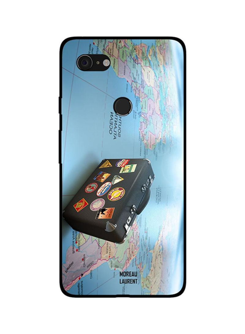 Protective Case Cover For Google Pixel 3XL Travel Tags Briefcase