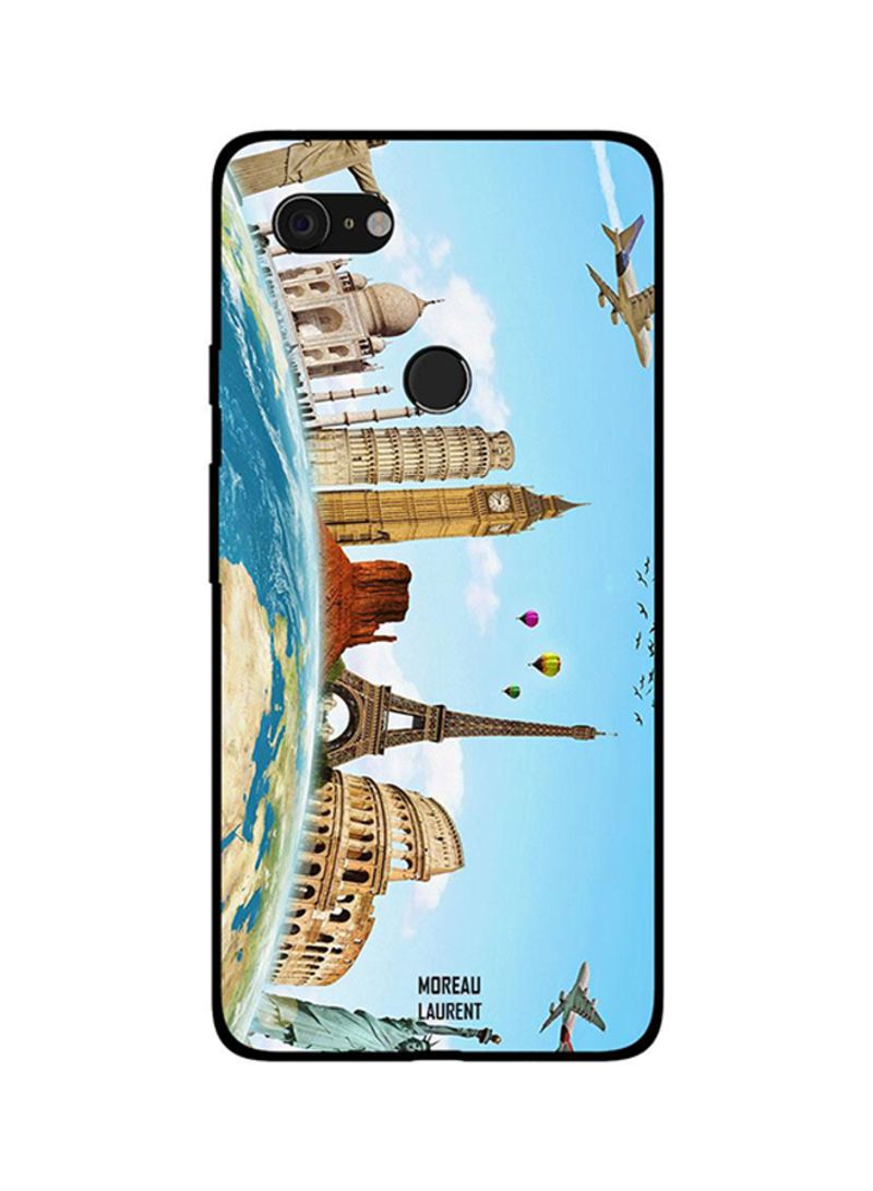 Protective Case Cover For Google Pixel 3XL Travel to Famous Places