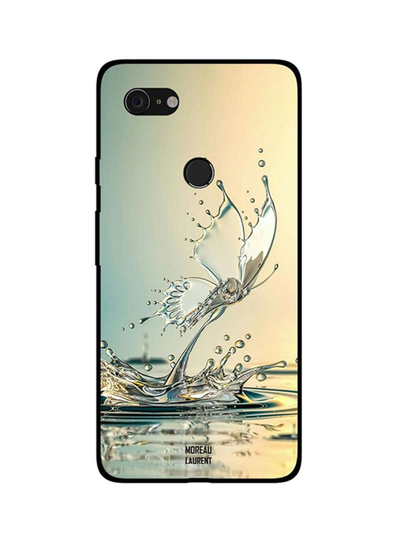 Protective Case Cover For Google Pixel 3XL Butterfly of Water Drops