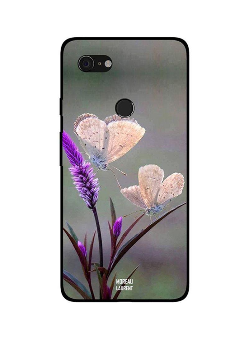 Protective Case Cover For Google Pixel 3XL Cute Cream Color Butterflies