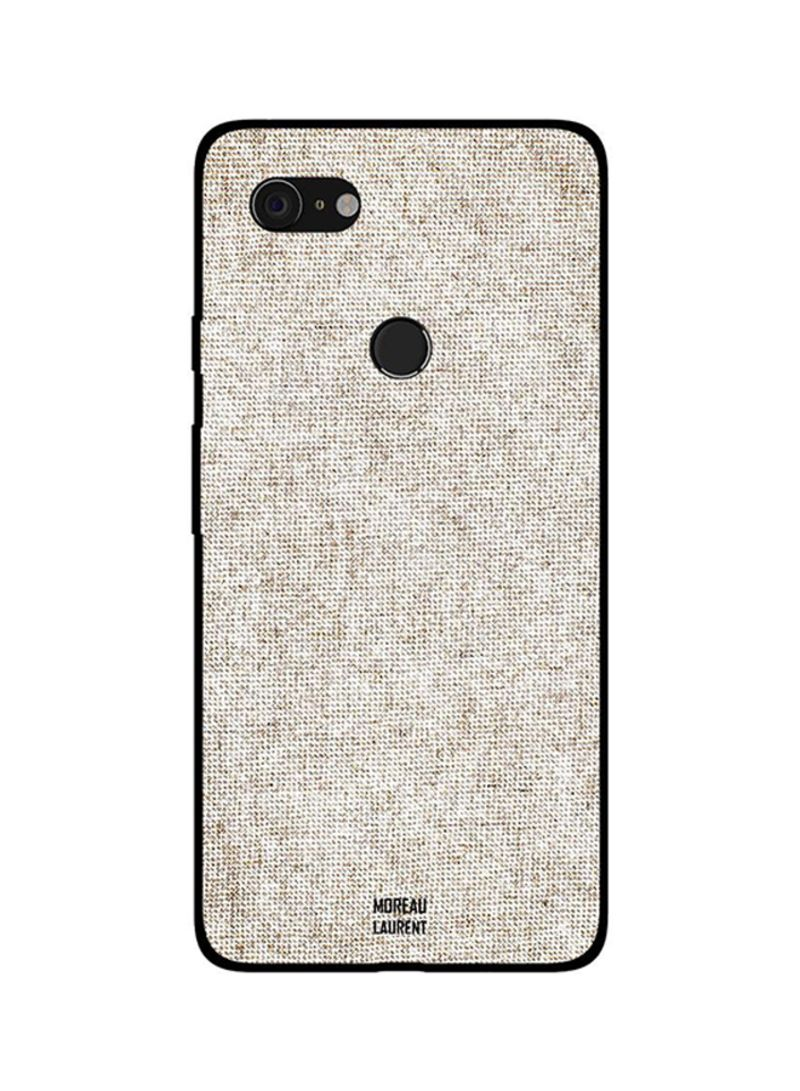 Protective Case Cover For Google Pixel 3XL Beige Color Jeans Pattern