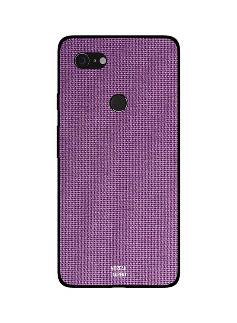Protective Case Cover For Google Pixel 3XL Purple Jeans Cloth Pattern