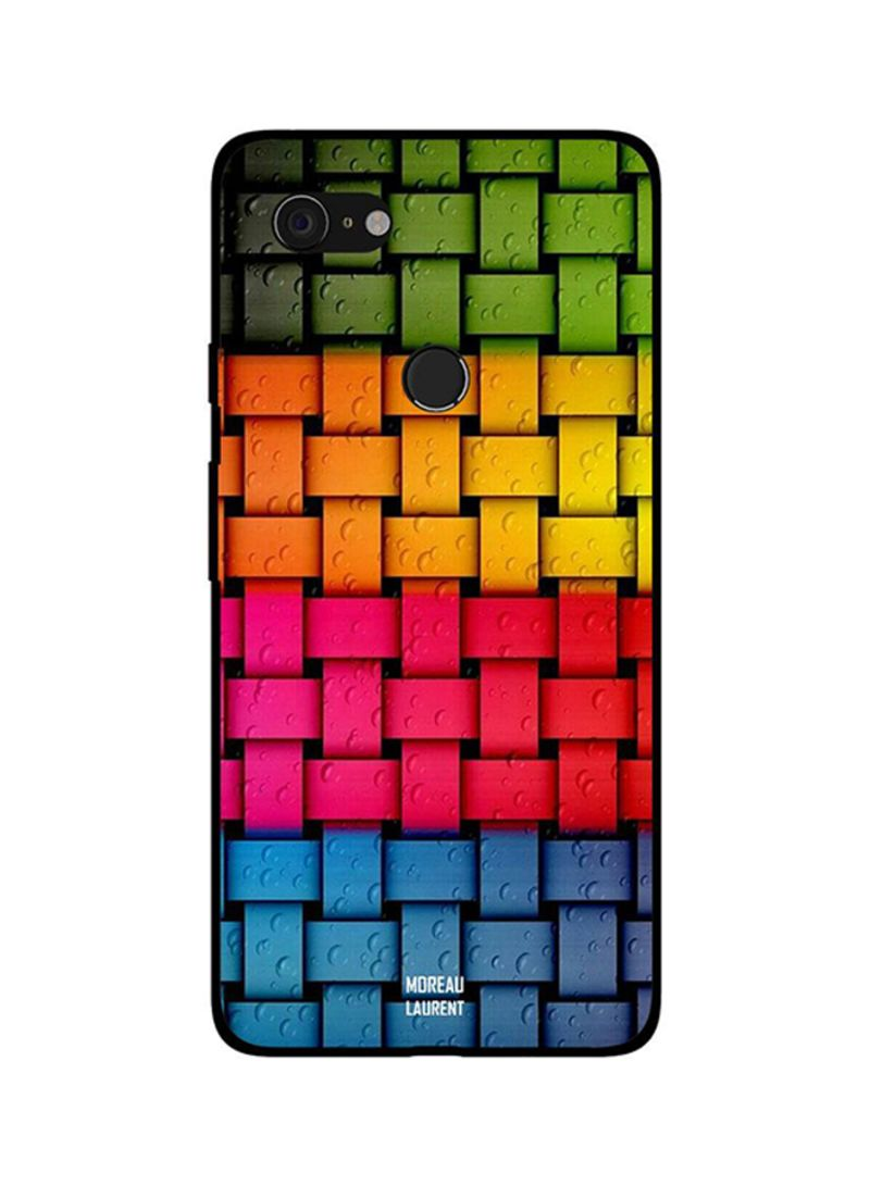 Protective Case Cover For Google Pixel 3XL Rainbow Colors & Water Drops Pattern
