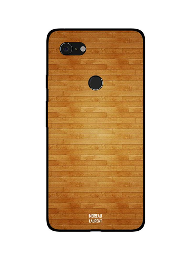 Protective Case Cover For Google Pixel 3XL Plywood of Bricks Design Pattern