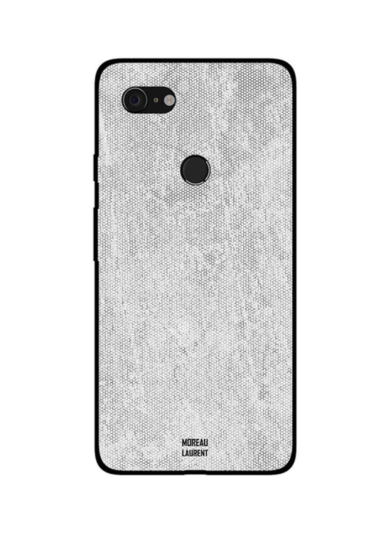 Protective Case Cover For Google Pixel 3XL White Vintage Jeans Pattern
