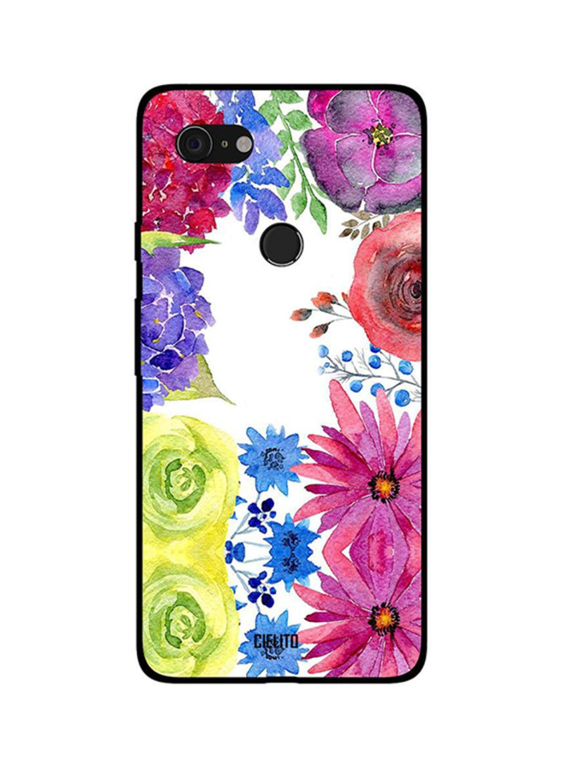 Protective Case Cover For Google Pixel 3XL Water Color Flowers