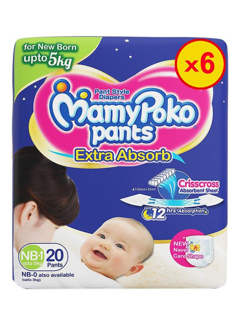 Extra Absorb Diaper, NB-1, 20 Count