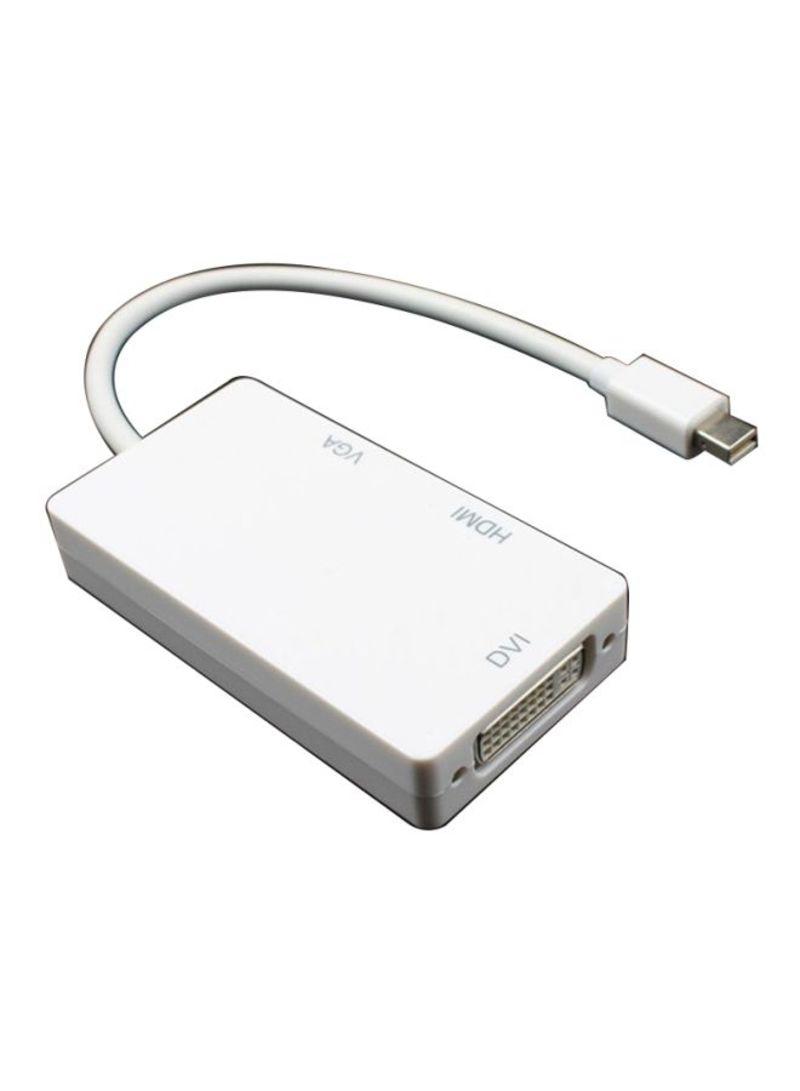 Mini DP Displayport To VGA/HDMI/DVI Conversion Cable White