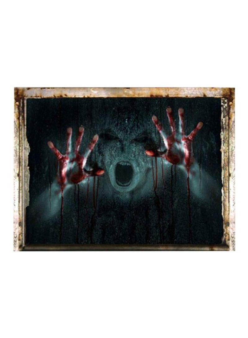 3D Ghost Halloween Wall Sticker Multicolour 45x60 centimeter