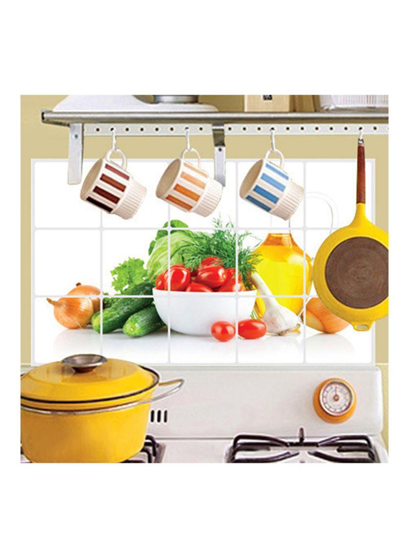 Kitchen Oil Proofing Vegetables Wall Sticker Multicolour 75 x 45 centimeter