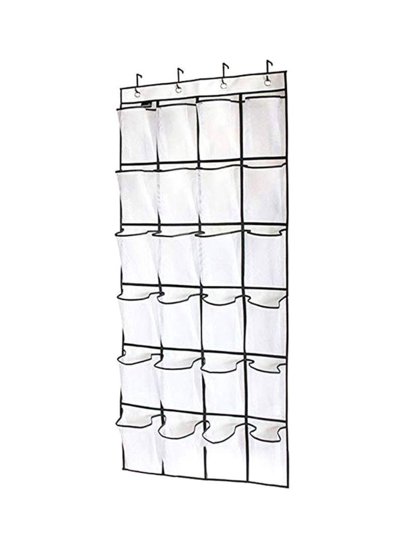 Multipurpose Hanging Organizer Rack White/Black 150x55 centimeter