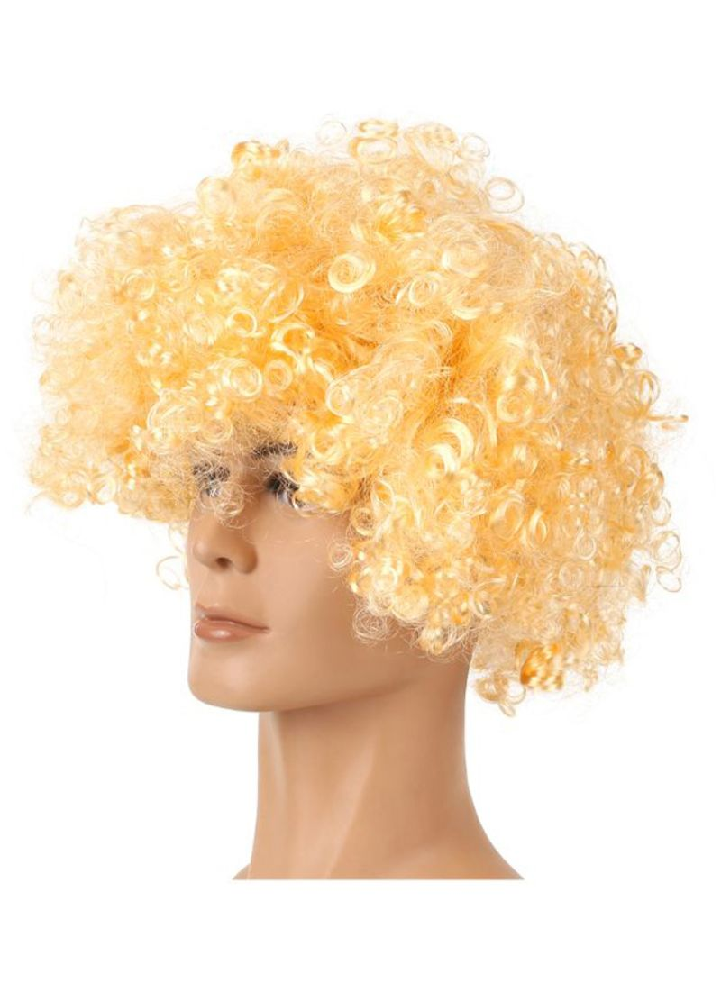 Curly Headwear Wig Light Gold 116 g