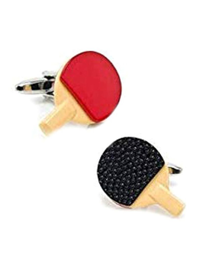 Alloy Table Tennis Bat Shaped Cufflinks