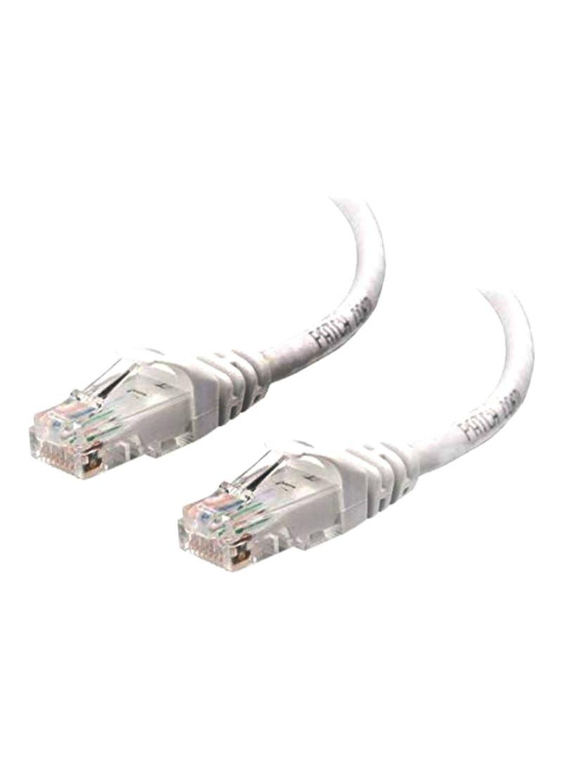 RJ45 Ultra High Speed LAN Cable White 3 meter