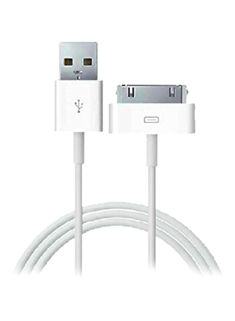 30-Pin USB Data Sync Charging Cable White 3 meter