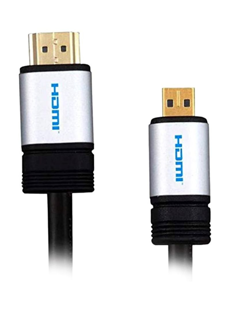 HDMI HDTV Cable For Acer Laptop Black/Chrome/Gold 1.5 meter