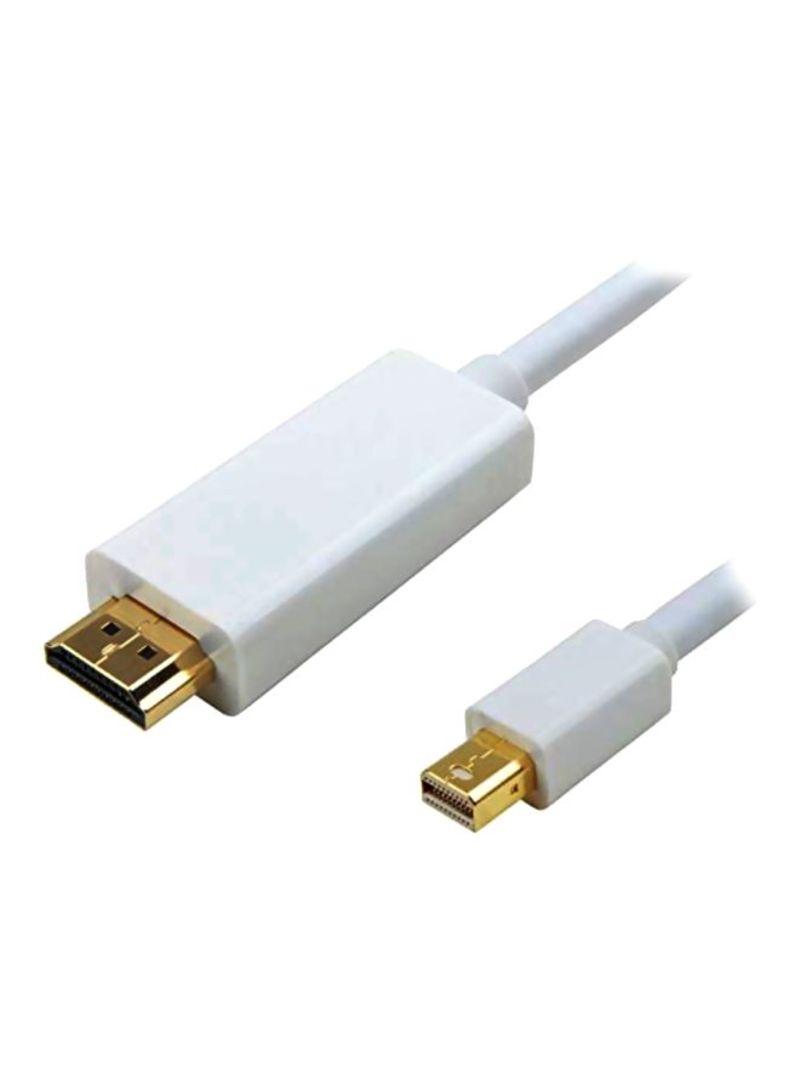 Mini DisplayPort HDMI HDTV Lightning USB Cable White 1.5 meter