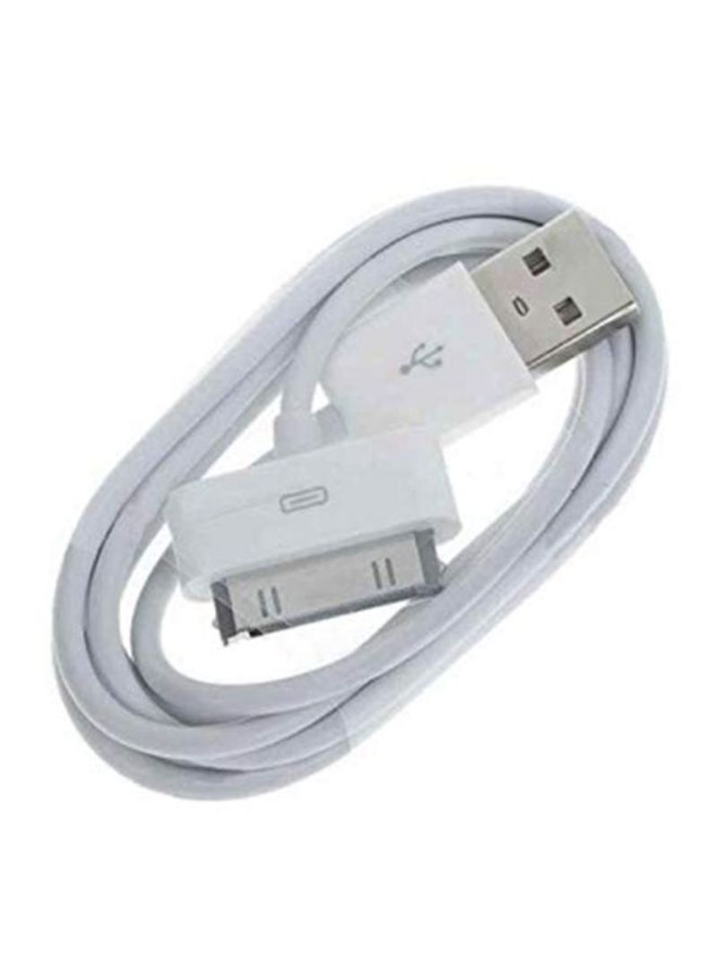 30-Pin USB Data Sync Cable For Apple iPhone 4/4S/iPad/iPod White 1 meter