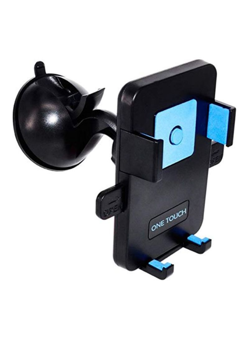 One Touch Car Windshield Mobile Mount For Samsung 4 To 5.7 Inch Black