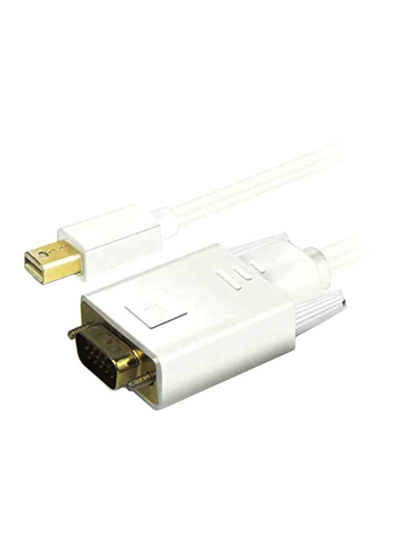 24K Gold Plated Mini Display Port Cable White/Gold