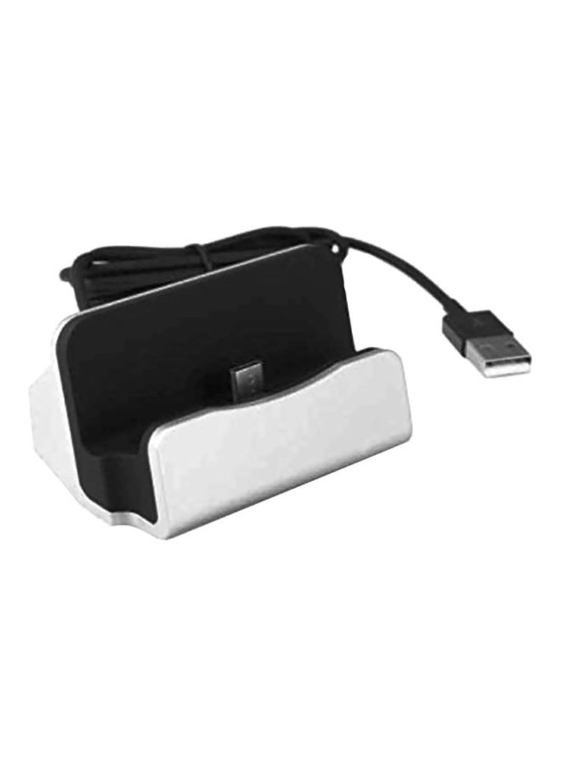 2-In-1 Type-C Data Hotsync And Charger Dock White/Black