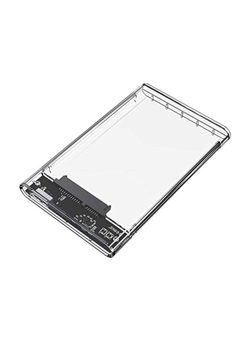 Protective Case For Sata-III And SSD External Hard Drive With USB Data Sync Cable Clear/Black