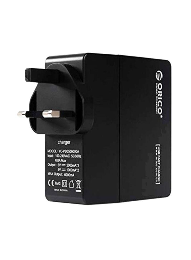 Travel Power Adapter Black